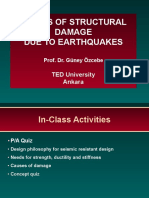 CAUSES OF STRUCTURAL DAMAGE DUE TO EARTHQUAKES