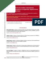 La multiplicación de los medios comunitarios, populares y alternativos en Argentina. Explicaciones, alcances y limitaciones