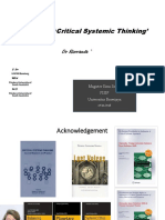 Mengenal ' Critical Systemic Thinking'