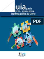 Guía para la Formulación e Implementación de Políticas Públicas del Distrito