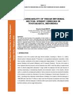 Vulnerability of Urban Informal