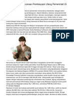 Realistiskah Perencanaan Pembiayaan Utang Pemerintah Di APBN 2019?