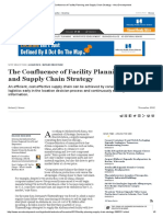 The Confluence of Facility Planning and Supply Chain Strategy - Area Development