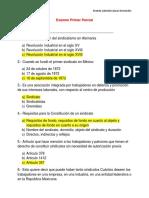 EXAMENES DERECHO COLECTIVO DEL TRABAJO