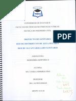 Red de Distribución de Agua Potable y Red de Alcantarillado Ingenieria Sanitaria II Proyecto Segundo Parcial