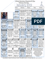 2019 January Festal Calendar