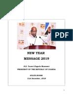 President Yoweri Museveni New Year Address 2019