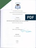 Sistema de Abastecimiento de Agua Potable Ingenieria Sanitaria II Primer Parcial