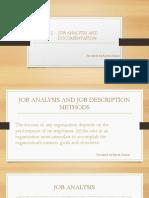 Job Analysis and Documentation