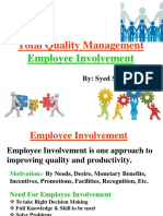 Tqm (Employee Involvement & Empowerment)