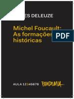 MICHEL FOUCAULT _ AS FORMAÇÕES HISTÓRICAS _ aula 3