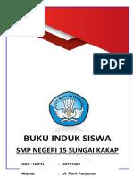 Cover Buku Induk Siswa