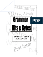 Grammar Bits and Bytes Subject Verb Agreement