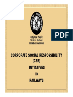 CSR Mumbai Railways Ppt