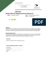 EXW GENL 0000 PE KBR IP 00009 Design Criteria for Highway Structures