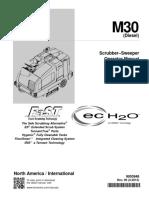 Tennant M30 Operators Manual Diesel