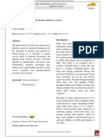 Pharmacological Activities of Alstonia Scholaris a Review