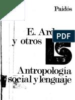 Ardener-Antropologia Social y Lenguaje