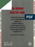 Acting Very Strange (1982) Back