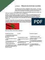 Droit Des Sociétés Au MarocRésumé de Droit Des Sociétés Au Maroc