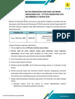 Pengumuman Tes Fisik Akhir d3k Pln - Stt Pln Angkatan 2015 Gel. II