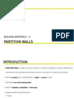 Unit 7-Partition Walls