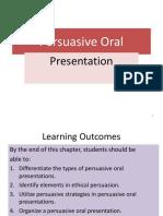 Persuasive Oral Presentations