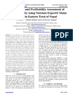 Productivity and Profitability Assessment of Hybrid Maize by using Nutrient Expert® Maize Model in Eastern Terai of Nepal
