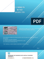 Common Road Defects
