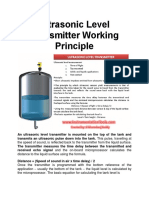 Ultrasonic Level Transmitter Working Principle