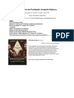 Semana 01 - Cinema Da Fundação - 03 a 09 de Janeiro 2019