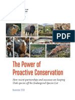 The Power of Proactive Conservation