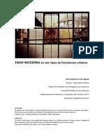 EIBAR MODERNA en seis tipos de fenómenos urbanos