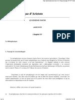 La Métaphysique ARISTOTE