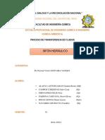Informe de Sifon Hidraulico