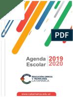 Agenda Escolar Catamarca 2019