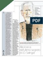 L'ultimo racconto di Salinger, Leonardo G. Luccone, la Repubblica, 31 dicembre 2018