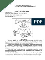 EDUCATIE PENTRU SANATATE PROGRAMA PENTRU ACTIVITATE OPTIONALA