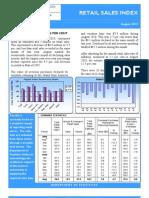 Retail Sales Index August 2010