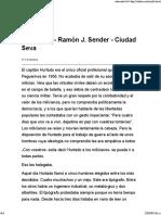 La Lección - Ramón J. Sender