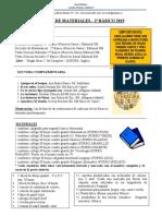 Lista de Materiales 2º Basico 2019
