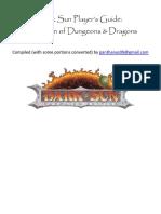 Dark Sun Player's Handbook - 5E homebrew