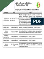 Calendario SEMAR y Extranjeros 2019