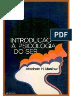 A. Maslow- Introducción a La Psicología Del Ser