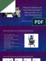 1-Tipo de Técnica de Electrofisiología e Indicaciones