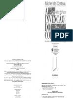 CERTEAU, Michel - A Invenção Do Cotidiano - Vol 1 - Artes de Fazer