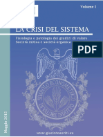 La Crisi Del Sistema -Volume I