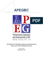 APEGBC Guidelines Professional Structural Engineering Services for Part 3 Building Projects