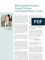 Sound Pressure and Sound Power
