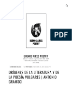 Orígenes de la literatura y de la poesía vulgares _ Antonio Gramsci